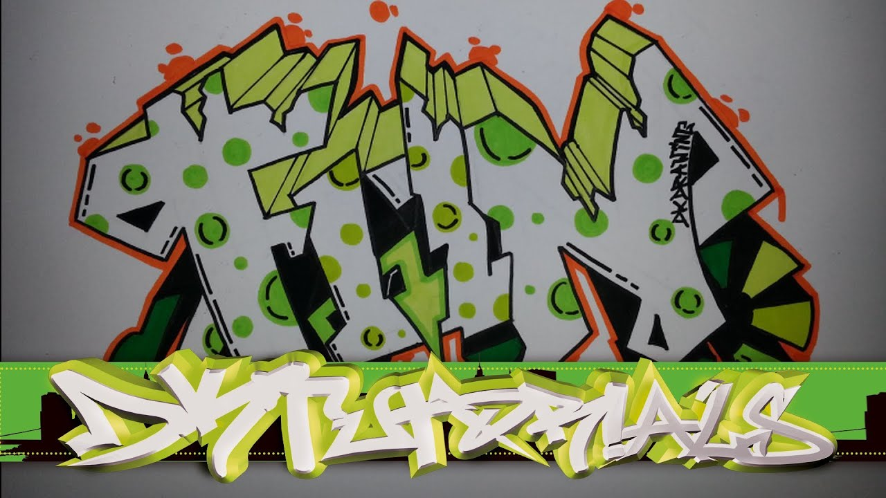 How to draw graffiti letters step by step - Fun - YouTubeHow To Draw Graffiti Step By Step