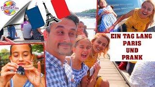 EIN TAG lang PARIS TRIP mit PRANK im HOTEL - Family Fun on Tour