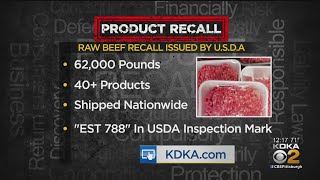 USDA Issues Recall For 62,000 Pounds Of Raw Meat