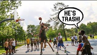 Trash Talkers Get EXPOSED BAD! 5v5 Basketball At The Park!