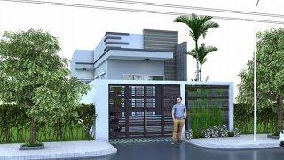 Mẫu nhà cấp 4 mặt phố đẹp giá rẻ với thiết kế nội thất hiện đại