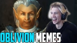 xQc Tries Not To Laugh at Funny Oblivion Memes!