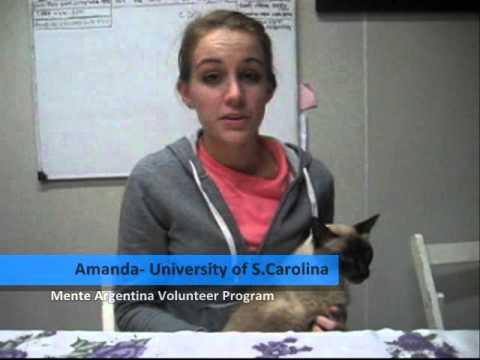 Amanda from University of South Carolina, USA participated on the Mente Argentina Volunteer Program.