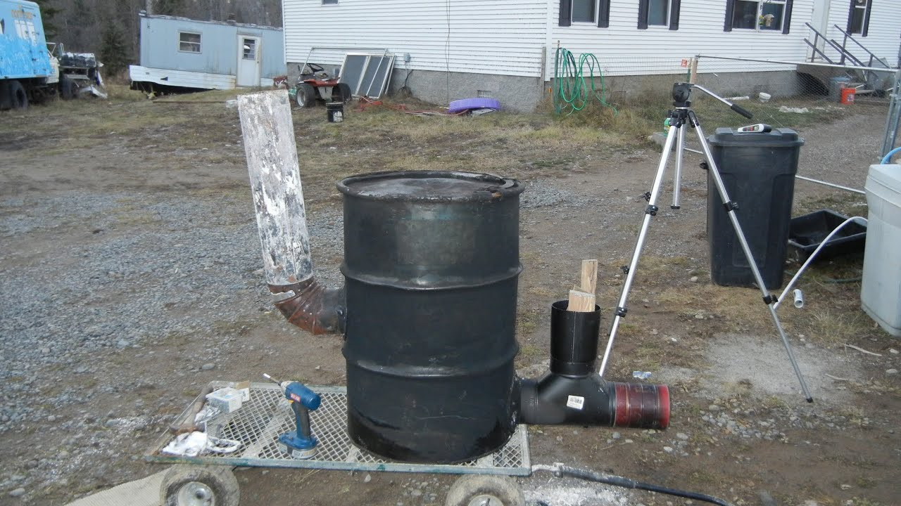 Building 6 Quot Stove Pipe Rocket Stove Heater 55 Gallon Drum