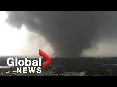 Tornado caught on camera tearing through Arkansas city