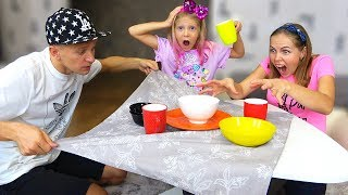 ЧТО УСТРОИЛ ПАПА За ФОКУСЫ ДОМА? Милана и Мама Придумали Новую игру! Скетч Челлендж от Family Box