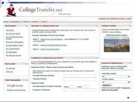 CollegeTransfer.Net Washington Pilot
