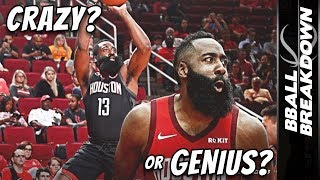 Is James Harden CRAZY Or A GENIUS For His One Legged Shot?