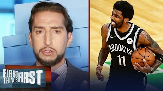 Kyrie responds to Nick's report that he'd rather retire than be traded | NBA | FIRST THINGS FIRST