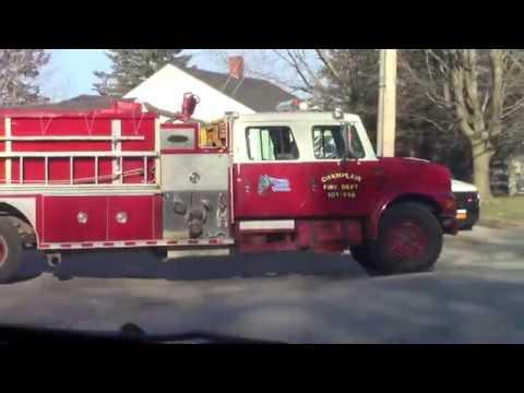 Champlain Emergency Vehicles Parade 3-31-20