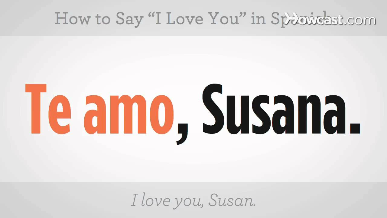 """How to Say """"I Love You"""" 