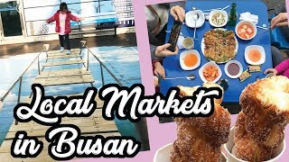 Gukje Market Street Food & Jagalchi Market - Busan South Korea Family Travel Vlog