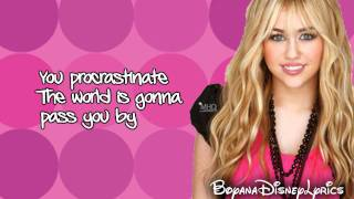 Hannah Montana - Kiss It Goodbye (Lyrics Video) HD
