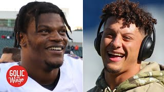 Lamar Jackson is challenging Patrick Mahomes as the QB of the future - Mike Golic | Golic and Wingo
