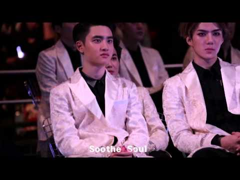 141203 EXO D.O. reaction to GDxTaeyang in MAMA
