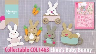 Collectable COL1463 Baby Bunnies | Eline's Animals by Marianne Design | Cardmaking Diecutting