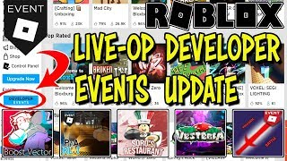 ROBLOX LIVE-OP DEVELOPER EVENTS UPDATE - NEW EVENT GAMES AND SPECIAL CODE