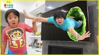Ryan Pretend Play TV Adventure Funny Story!!!