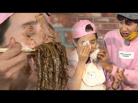 Kwangmong, Hilarious Jajangmyeon Race|송지효, 얼굴로 먹은 '짜장 레이스' 《Running Man》런닝맨 EP455