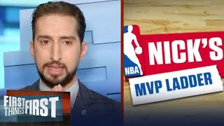 Nick Wright reveals which NBA players tops his updated MVP ladder | NBA | FIRST THINGS FIRST