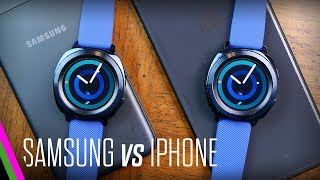Samsung Gear Sport - iPhone vs Samsung (Android) Comparison with Samsung Health