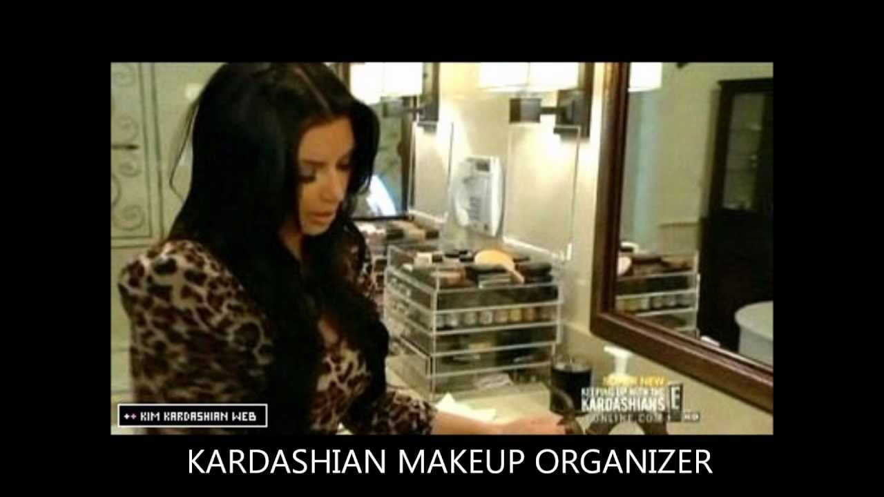 Kim Kardashian- Kourtney Kardashian Makeup Drawers - YouTube