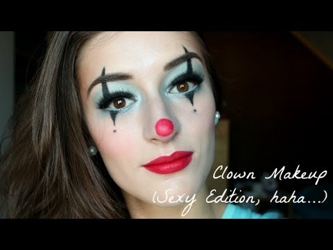 clown makeup tutorial sexy edition  halloween