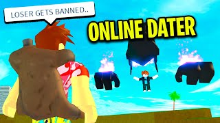 ONLINE DATER Wanted To ADMIN BATTLE To Keep Online Dating.. (Roblox)