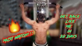 Easy & Best Six BACK Workout at GYM | JITU FITNESS