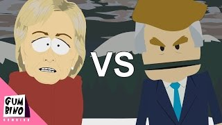 Donald Trump vs Hillary Clinton - ERB animated (Epic rap battles of history south park)
