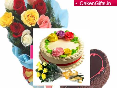 Get best occasional cake and flowers together