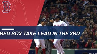 Jackie Bradley Jr. and the Red Sox take the lead in the 3rd