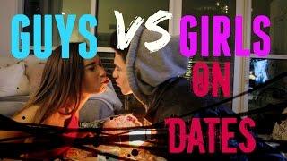 Guys VS Girls On Dates (w/ MyLifeAsEva)   Brent Rivera