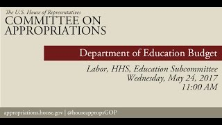 Hearing: Department of Education Budget (EventID=106008)