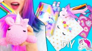 DIY Unicorn School Supplies! Learn How To Make Cutest Unicorn Crafts