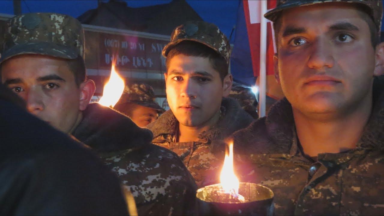 Степанакерт: шествие в память о жертвах геноцида армян