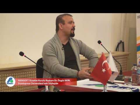 AKINSOFT Yönetim Kurulu Başkanı Dr. Özgür AKIN, Dumlupınar Üniversitesi'nde Söyleşide