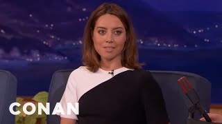 Aubrey Plaza's Favorite Red Head Myths  - CONAN on TBS