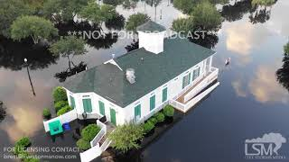 9-22-2018 Conway, SC Record crest River Flooding Waccamaw River Hurricane Florence aftermath drone