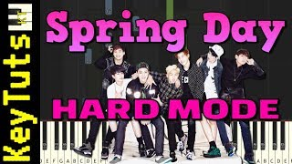 Spring Day by BTS - Hard Mode [Piano Tutorial] (Synthesia)