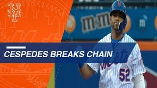 Cespedes breaks chain, Cabrera cleans it up
