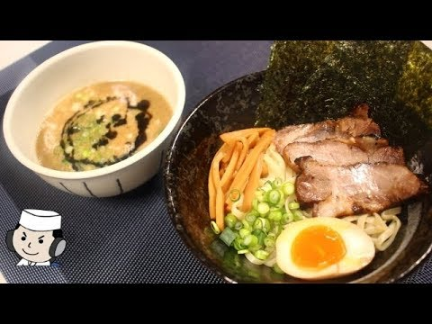 本気シリーズ⑥ 濃厚豚骨つけ麺♪ How to make Tsukemen with Thick Tonkotsu Soup and Ma-yu♪