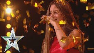 14 year old singer Iveta gets Michelle's Golden Buzzer!   Ireland's Got Talent 2019