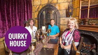 Quirky couple turn their three -bed house into medieval castle.