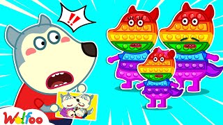 No No, Wolfoo! The Pop It family is not yours - Kids stories about Wolfoo Family   Wolfoo channel