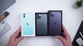 Unboxing semua jenis iPhone 11.