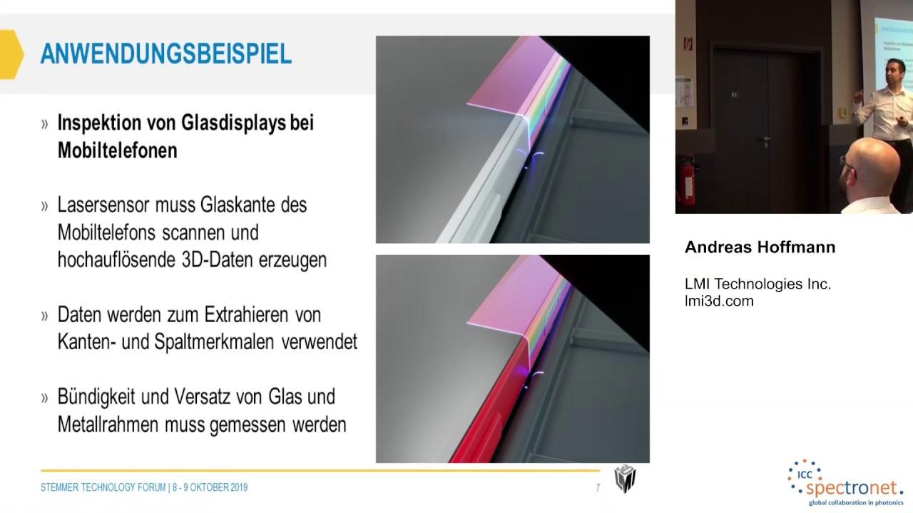 Inspektion von Glas und spiegelnden Oberflächen mit 3D-Smart-Technologie - Technologieforum Bildverarbeitung 2019