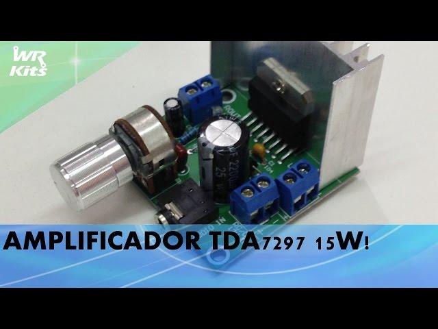 AMPLIFICADOR TDA7297 15W COM EQUALIZADOR