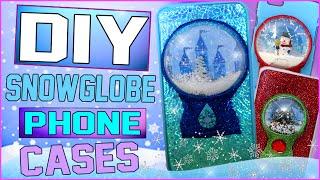 DIY   Snow Globe iPhone Case! | 4 DIY Snowglobe Christmas Cases!