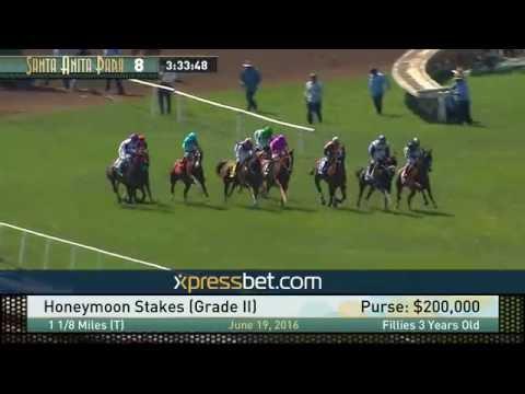 Honeymoon Stakes, Gr.  II (Cal-bred winner) -  Sunday, June 19, 2016